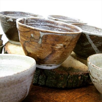 Wood ash glazed bowl