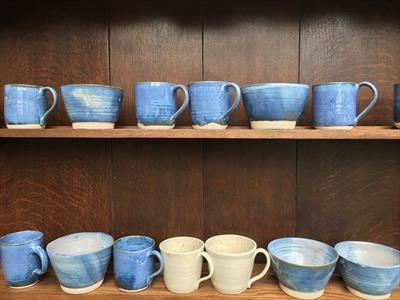 Selection of mugs and bowls for sale individually.