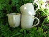 Rose wood glaze stoneware coffee cups by Emma Buckmaster, Ceramics
